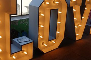LED LOVE letter sign